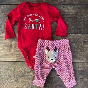 Carter's Matching Sets - Carters Christmas Reindeer Onesie Set